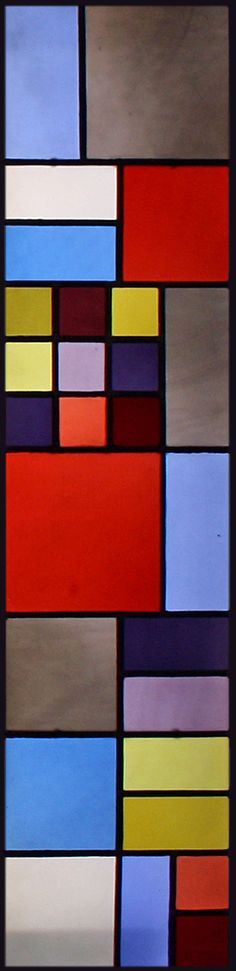 "In addition to painting, Dutch artist Theo van Doesburg co-founder and ""ambassador"" to the De Stijl movement, designed many st. Mondrian, Bauhaus, Theo Van Doesburg, Leaded Glass Windows, Tiffany Glass, Dutch Artists, Stained Glass Patterns, Conceptual Art, Abstract Canvas"
