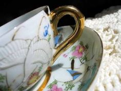 Pictorial Teacup Tea Cup Japan 2120 by VintageKeepsakes for $13.50 on #Zibbet