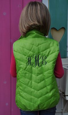 Monogramed Waterproof Chevron Quilted Vest with by MagnaMini, $59.99