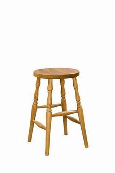Amish Made Wood Backless Barstool Lancaster Collection Like saving time? The Amish Made Wood Backless Barstools contribute to time saved with cool solid wood style. Snacks and quick breakfasts a