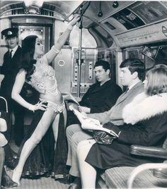 Turkish Belly dancer on a London Train 1968
