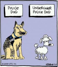 Mystery Fanfare: Cartoon of the Day: Police Dog