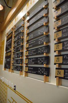 Pub Interior, Restaurant Interior Design, Craft Beer Shop, Menu Board Design, Small Restaurant Design, Cafe Shop Design, Coffee Shop Business, Brewery Design, Boutique Deco