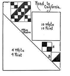 Quilt pattern: Road to California