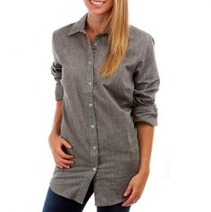 Oversized Boyfriend Button Down Shirt perfect with some leggings! $7