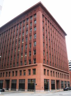 Wainwright Building - City Landmark #7. National Historic Landmark. Located at 701 Chestnut St. the Wainwright Building was designed by the famed architects Adler and Sullivan in 1891.  The Wainwright building is credited for being the first successful utilization of steel frame construction.