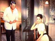 1963, Carey Grant and Audrey Hepburn.  I love a good romantic mystery.  Hepburn's clothes by Givency are to die for.