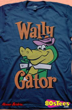 Wally Gator T-Shirt: Hanna Barbera Mens T-Shirt  Wallt Gator Geeks:   Enjoy the comfort of home or travel the great outdoors in this men's style shirt that has been designed and illustrated with great art.