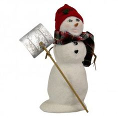 Byers' Choice Snow Day Fun, Snowman with Shovel | When the snow comes cold and deep, every family tries to create the best snowman on the block. This Snowman is ready to take a spin on the ice!
