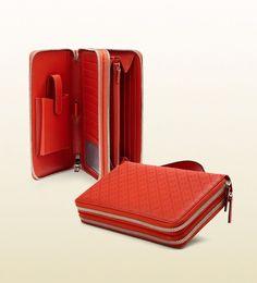 8a459f2576528c GUCCI Diamante Print Leather Travel Document Case New In Box 336298 0416 # GUCCI #TravelDocumentCase
