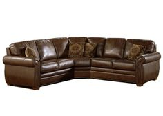 Blanco - Palliser Leather Sectional | Town and Country Leather Furniture