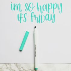 We couldn't have said it better ourself @radandhappy!! #repost #weekend #fridayvibes  Happy day! #radandhappylettering #crayoligraphy