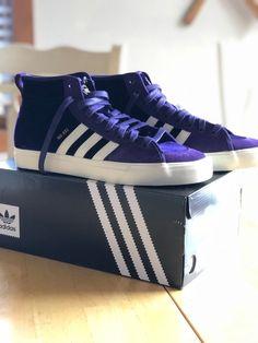 82518dd58fb5b7 Adidas Matchcourt High RX Mens Size 10 Purple Wite (NA-KEL SMITH SHOE