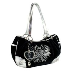 """NFL Oakland Raiders Sport Luxe Hobo by Littlearth Productions. $39.00. Hanging from the Heart is a Little Football Charm to Make it a Little More Special. Black with Silver Trim. Pink Satin Interior with Pockets for Ample Storage. Silver Metallic Screen Printing Embellished with Crystals. Charm Features Team Logo and Word mark!  Chrome Plated Metal, """"Blinged"""" with Crystals!. Pro-FAN-ity by Littlearth brings young, hip style meshed with beauty to create their licensed Sport-L..."""