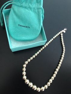 ad3875ffe Graduated Bead Necklace Sterling Silver. Get the lowest price on Graduated Bead  Necklace Sterling Silver. Tradesy