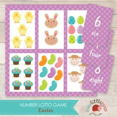Busy Little Bugs Easter Number Lotto Game 6 printable game boards and cards for your little ones this Easter!