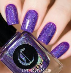 Cirque:  Concord  ... a purple holographic nail polish