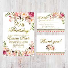 90th birthday party invitations templates free party ideas 90th birthday invitationwomen birthday invitationfloral white women birthday invitefree rsvp filmwisefo
