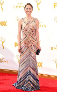 Ellie Kemper in Naeem Kahn from 2015 Emmys: Red Carpet Arrivals   E! Online