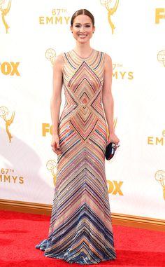 Ellie Kemper in Naeem Khan at the 2015 Emmys