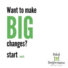 SMALL CHANGES MAKE A BIG DIFFERENCE.  I know this sentence is thrown around a lot but it's a very true statement.  Setting goals is easy,… Small Changes, Nutrition Information, Setting Goals, Sentences, Infographics, Big, Health, Fitness, Easy