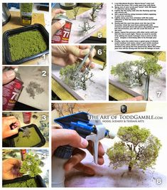 Making plenty of trees always adds realism to any model railroad. Here are super easy steps to creating your own from scratch! #modelrailway