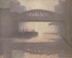 Windsor Bridge on the Irwell Adolphe Valette