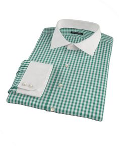 Veridian Green Gingham by Proper Cloth