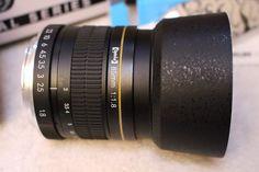 Opteka 85mm f/1.8 Manual Focus Aspherical Medium Telephoto Lens for Canon