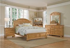 Berkshire Lake Pine 5 Pc King Panel Bedroom Set includes Dresser, Mirror & 3 Pc Kg Bed. Find affordable King Bedroom Sets for your home that will complement the rest of your furniture. Rooms To Go Bedroom, Wood Bedroom Sets, Oak Bedroom, King Bedroom Sets, Queen Bedroom, Master Bedrooms, Bedroom Decor, Modern Bedroom, Bed Room