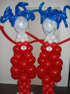 Thing 1 and Thing 2 Sculpture