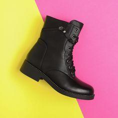 Ghete Ruby negru Combat Boots, Biker, Adidas, Shoes, Fashion, Moda, Zapatos, Shoes Outlet, Fashion Styles