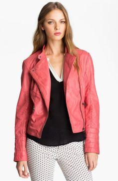 Bernardo Leather Moto Jacket   Nordstrom