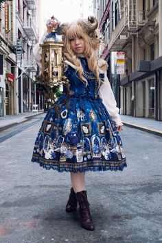 """roseandinktea: """" Find me in the alley and I'll give you a quest! Outfit shot from Angelic Pretty San Francisco's Halloween party. I dressed up as an RPG-inspired ram character. I'm proud of how my..."""