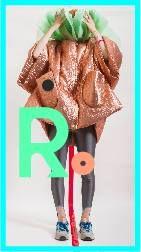 BonBon oversized jacket, bronze fabric & sweet green organza, leggins by Lenka Sindelova, New Balance shoes; *** pic by Evan Dorlot