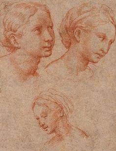 Three Female Heads, Raphael