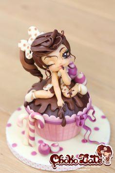 Lady ChokoLate - cake by ChokoLate Gorgeous Cakes, Pretty Cakes, Amazing Cakes, Amazing Art, Modeling Chocolate, Chocolate Art, Chocolate Lovers, Fancy Cakes, Mini Cakes