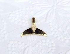 14K Gold and Diamonds Wyland Whale Pendant by SUSANsBAUBLES