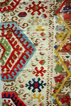 (Detail) Conserved and professionally mounted on linen. Carpet Flooring, Rugs On Carpet, Oriental Rugs, Tapestries, Kilim Rugs, Asian Art, Moroccan, Bohemian Rug, 18th