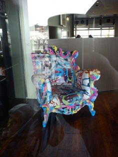 Saw this brilliant chair on display in the window of a restaurant on Elizabeth St Pier hobart