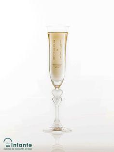 Copa de cristal para boda.