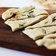 rosemary and garlic flatbread, so good!