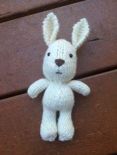 Tiny knit bunny rabbit - great newborn photo prop