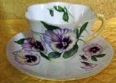 Shelley China Dainty Pansy Tea Cup and Saucer - Mom loved pansies -
