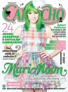 """I've been on some magazine covers.  This is """"CAPRICHO"""", the most popular teen mag in Brazil. (2010)"""