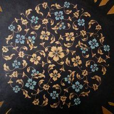 ... Islamic Art Pattern, Arabic Pattern, Pattern Art, Mandala Painting, Fabric Painting, Motif Oriental, Illumination Art, Turkish Art, Arabic Art