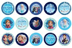 "Instant Download - Disney Frozen INSPIRED -  1"" inch Round Images Bottlecap Images Digital File Instant Download on Etsy, $1.72 AUD"