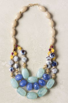 Blurred Blue Necklace - Anthropologie.com   ...nice color/size/shape combo...