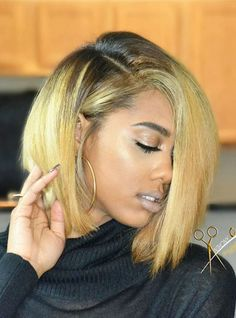 Full Lace Wigs|Lace Front Wigs|Lace Wigs @ RPGSHOW Hairstylist Anthony Blonde Bob - AnthonyCuts017 [AnthonyCuts017] - hair color: #2/Blonde hair length: 12 inches
