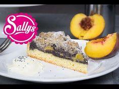 Mohn-Pfirsich-Kuchen mit Streuseln Rezept / Sonntagskuchen - YouTube